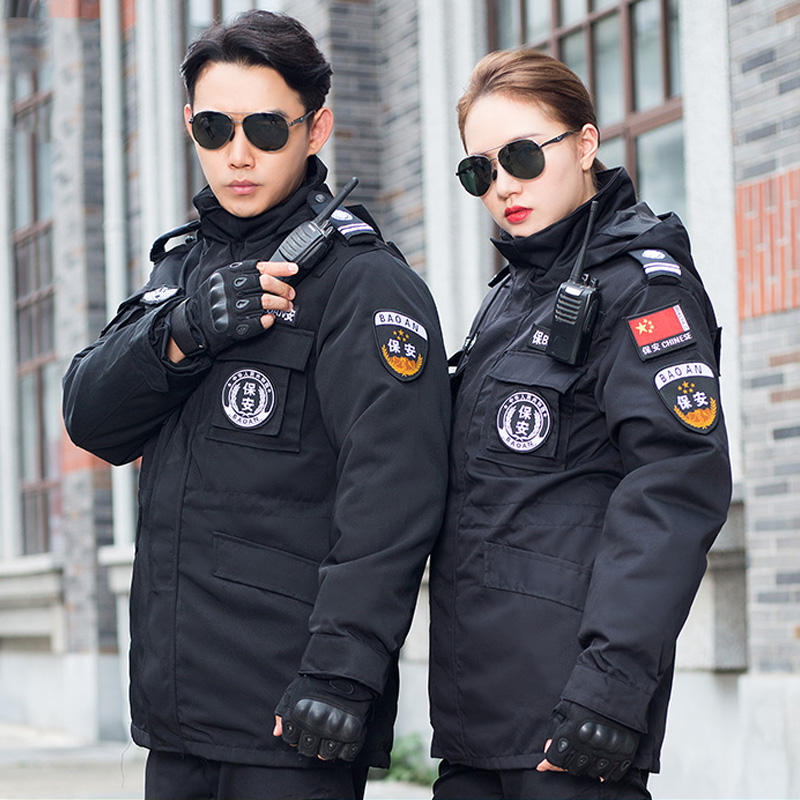 police winter jacket security officer bomber jacket security guard winter jacket