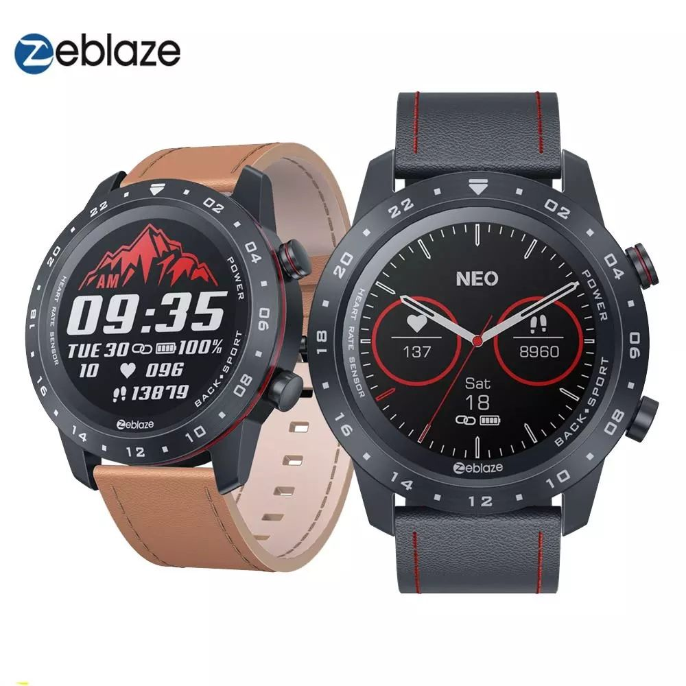 Zeblaze Neo 2 Ronde <span class=keywords><strong>Touch</strong></span> Screen Dial Bluetooth 5.0 Hartslagmeter Volledige <span class=keywords><strong>Cirkel</strong></span> <span class=keywords><strong>Touch</strong></span> Screen Hrv Smart Horloge Armband