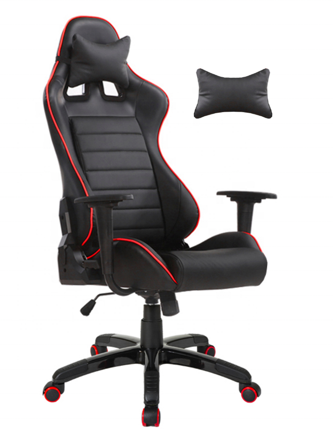WS1001 Fashionable in stock hole leather breath Gaming Racing Furniture Gamer Desk Table Chair For Gamer with RGB light speaker