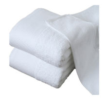 High quality 100%cotton white super soft satin dobby Turkish cotton bath towel for brand hotel
