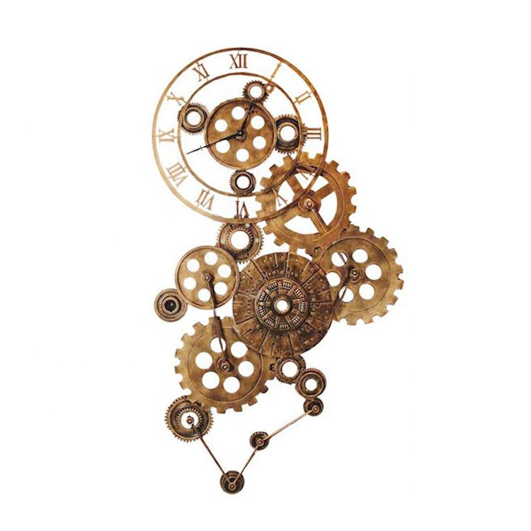 Unique Modern style metal wheel gear pendant House decoration wall for interior hose decoration
