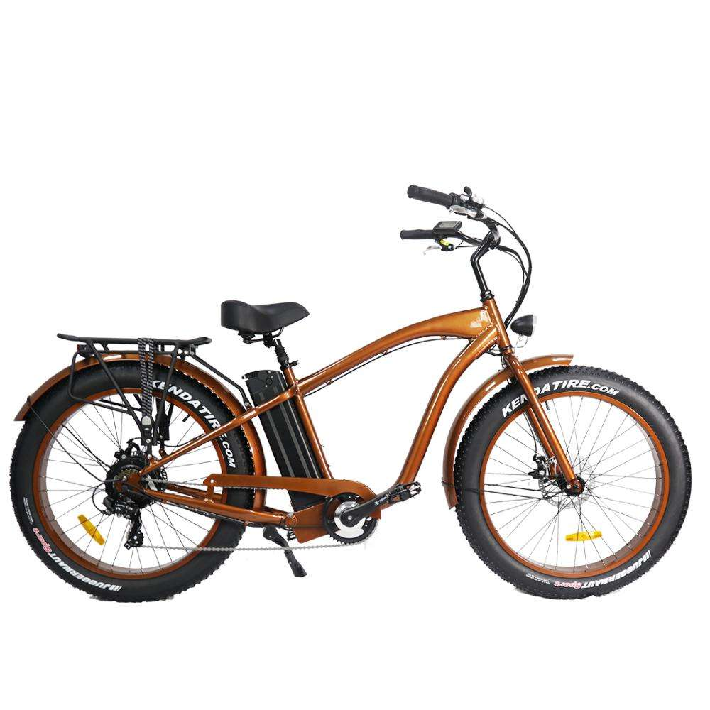Chopper mens beach cruiser elektrische fiets 48v 500w 26