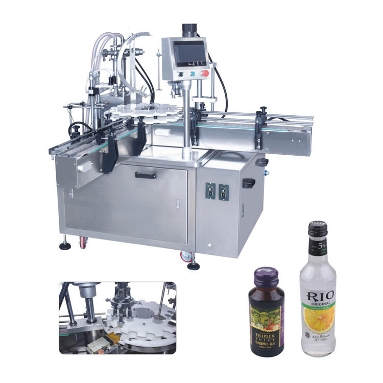 Automatic small glass bottle filling and capping machine liquid filler capper