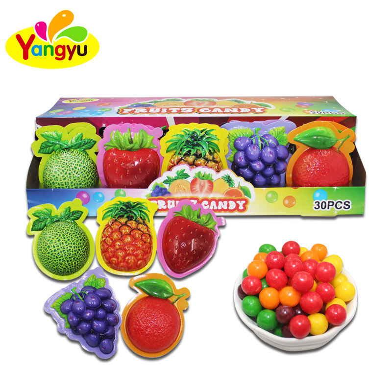 Custom Candy Fruits Shape Round Candy
