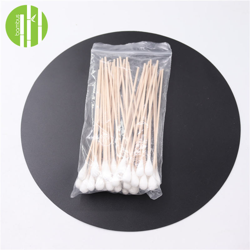 Organic single head reusable cotton bud high quality with printing box