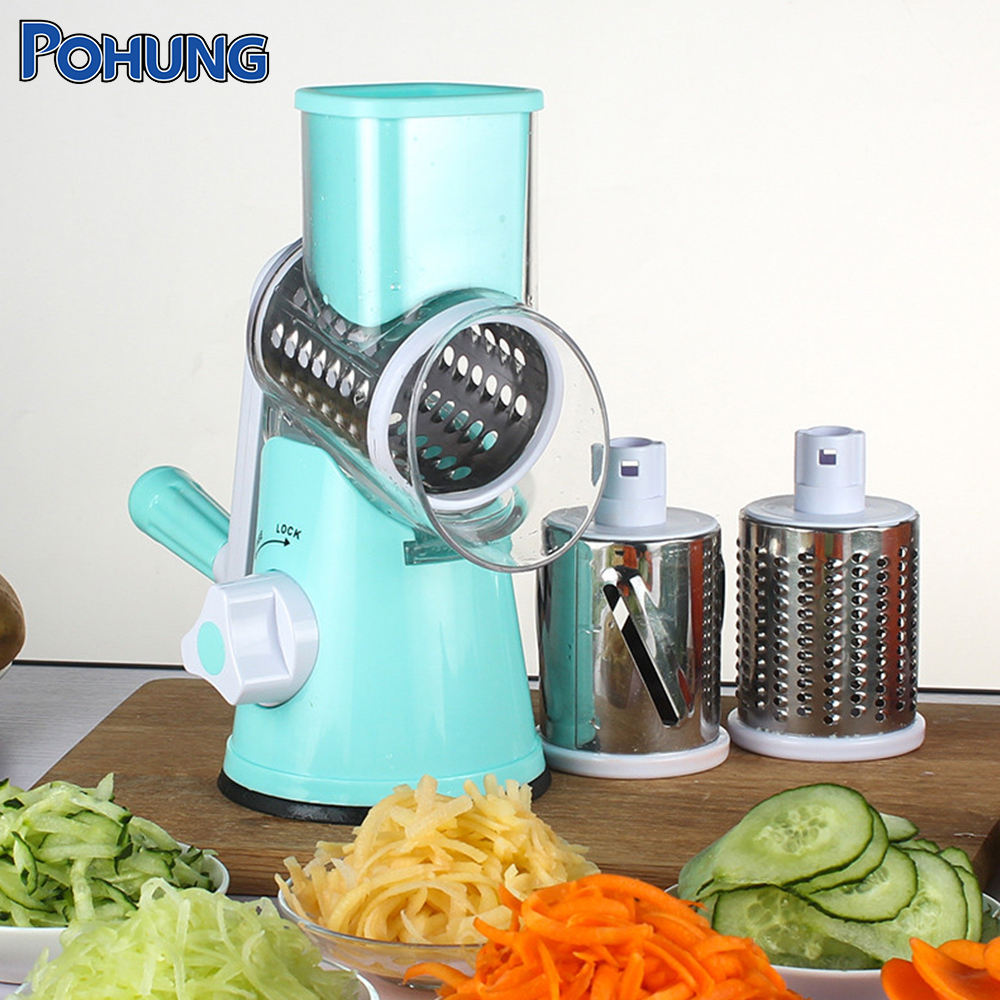 Custom Manual Vegetable Cutter Multi-functional Round Mandoline Slicer Potato Cheese Kitchen Graters Kitchen Accessories