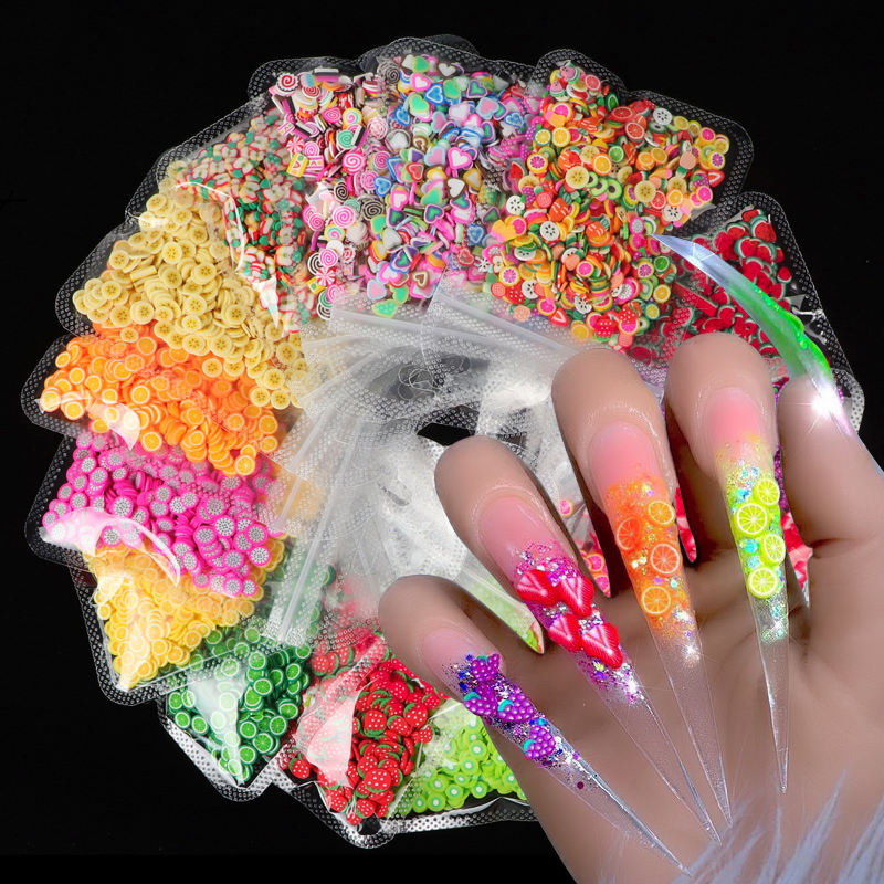 2021The new fruit Nail art wholesale supplies jewelry stone gem 3d nail art decorations design crystals wholesale