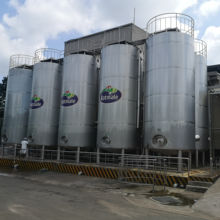 Outdoors milk silo