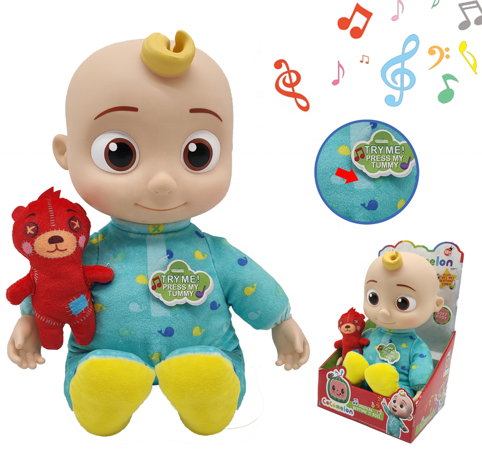 25cm COCOMELON BEDTIME JJ COCOMELON Electric Music DOLL for babies