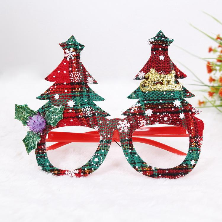 Novelty Christmas Gift Glitter Plastic Party Glass Christmas Decorations Ornaments For Kids