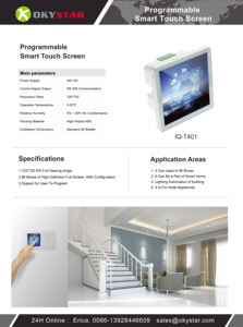Berdampak Tinggi ABS Smart RS485 Programmable Wall Switch Digital Touch Screen