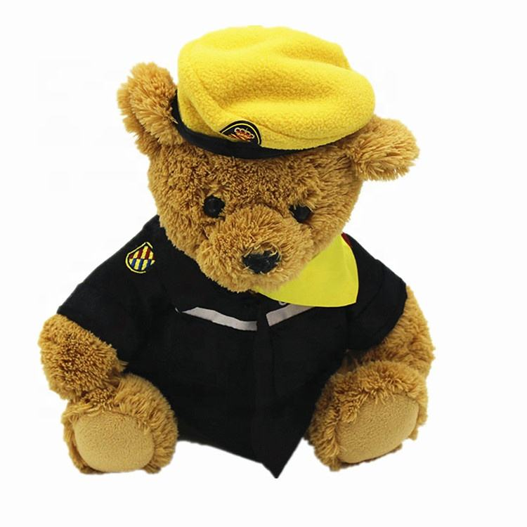 Custom Promotional Gifts Brown Teddy Bear With Hat Yellow Teddy Bear