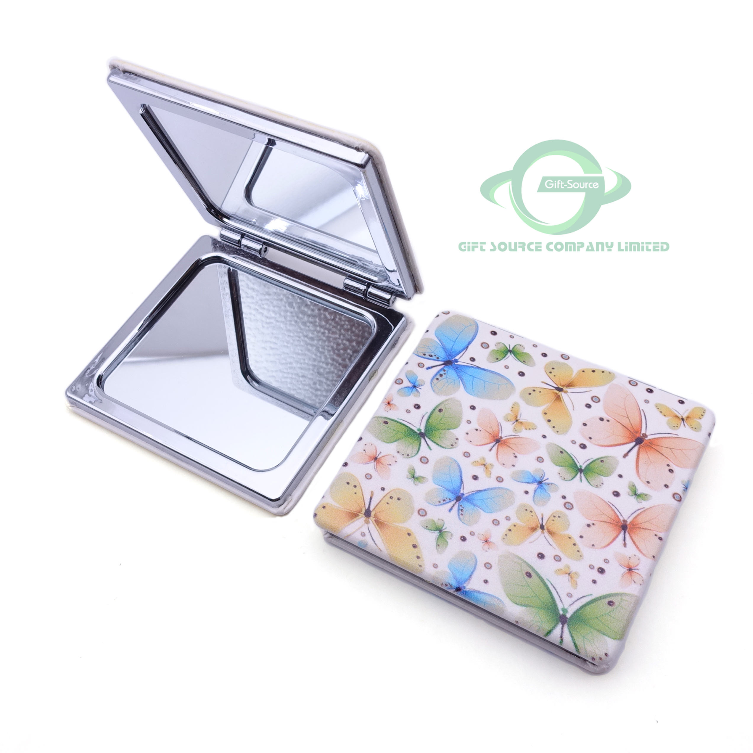 2020 Newest hot sales sublimation blanks compact mirror with logo/cosmetics mirror/custom hand held vanity mirror with lights