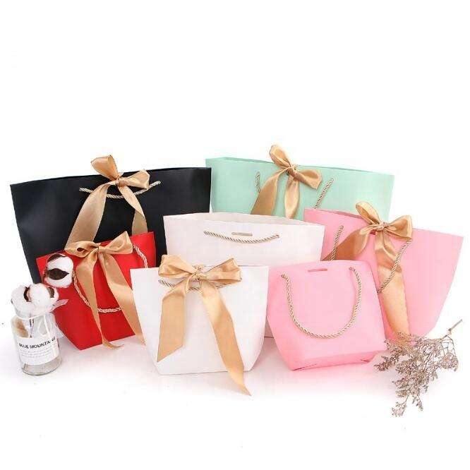 Fancy Wedding Gift Paper Bags/Factory Wholesale High End Durable Eco Small Wedding Gift Bag for packaging/gift bags paper