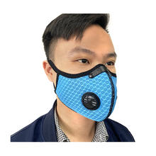Reusable earloop mesh Bicycle Mask Activated carbon filter Pm2.5 anti pollution dust cycling breathing valve face sports mask