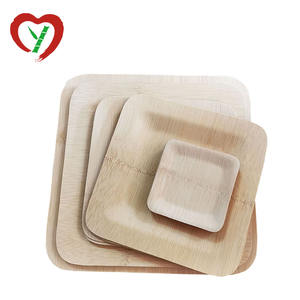 Eco Friendly Biodegradable Disposable Bamboo Plates Tableware
