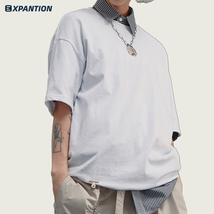 EXP custom logo 100% cotton casual election promotional advertising top tee men plain white t shirts