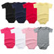 Wholesale Summer Blank Newborn Baby Girl Boy Clothes 100% cotton Solid Color Short Sleeve Onesie Bodysuit