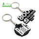 Custom Make Your Own 3D Logo Silicone Keychain Promotional Souvenir Customized Cartoon Anime LED Rubber Soft PVC Keyring