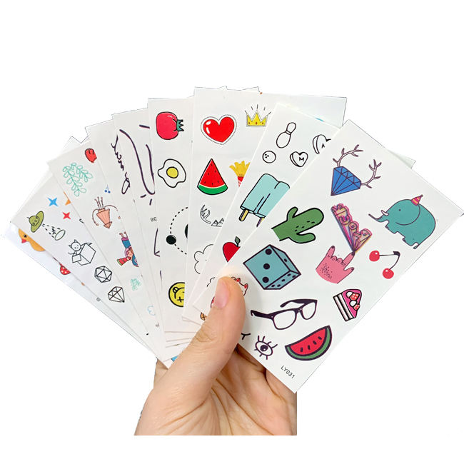 100pcs Wholesale Body Arm Face Decorative Sticker Tattoo Waterproof Temporary Tatoo Stickers