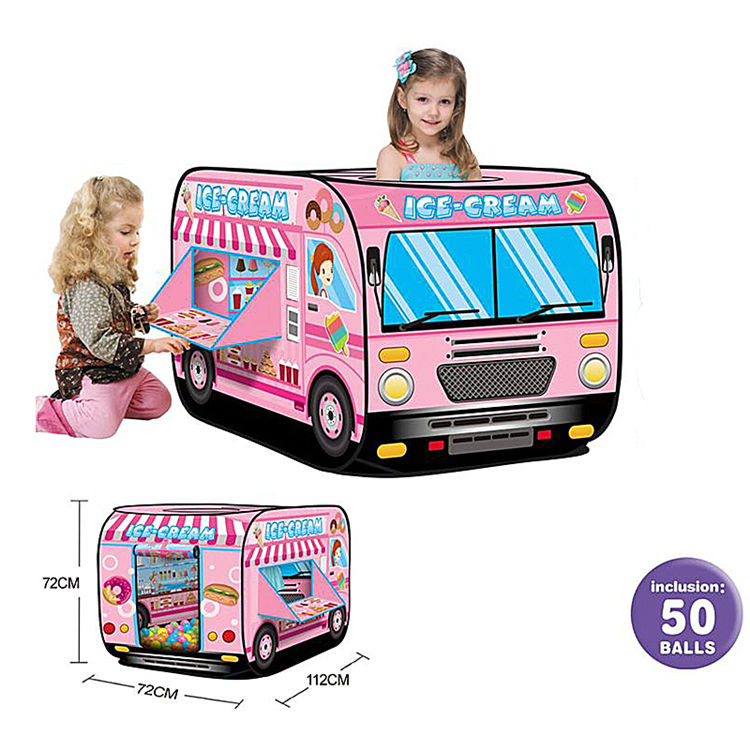 Cheap price hot selling candy indoor bus tents kids play car tent