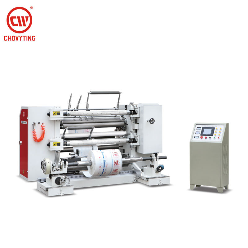 CP-1300FQL vertical paper plastic roll slitting and rewinding machine