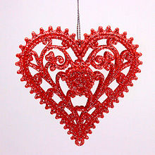 Gift 2020 Valentines Day Gifts Plastic Glitter Heart For Xmas Home Decoration