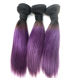 10A 12A Ombre Hair Bundles Brazilian Virgin Remy Straight Weave Human Hair Bundles Factory Promotional Pretty Quality