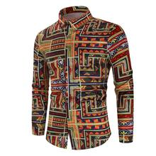 Wholesale 2020 Casual Party Wear Printed Tropical Long Sleeve Hawaiian Floral Shirts For Men