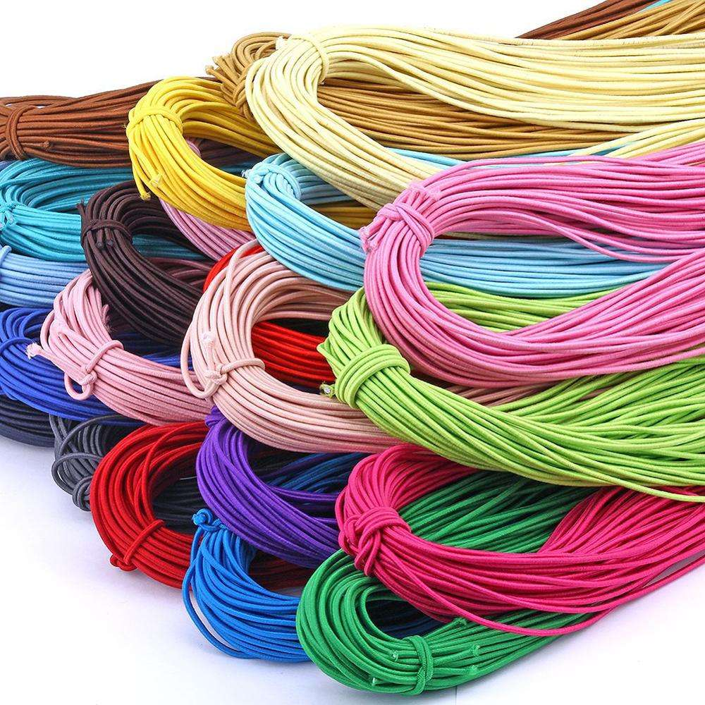 Factory Wholesale 2MM High Strength Colored Elastic Draw Cords For Clothing Accessories