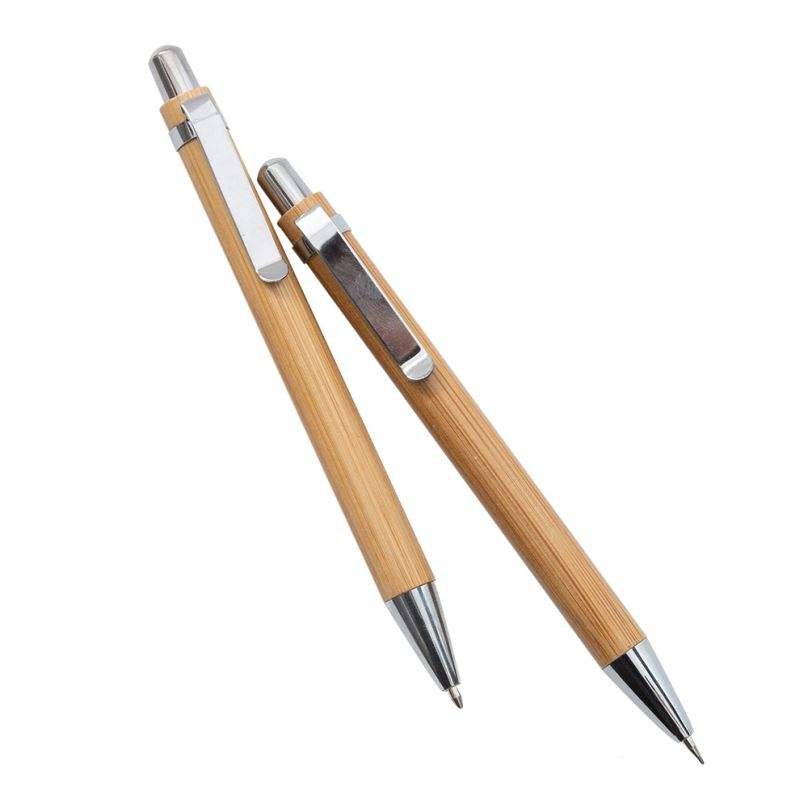 Изогнутая форма/дугообразная бамбуковая ручка на заказ механический карандаш механические карандаши 0,7