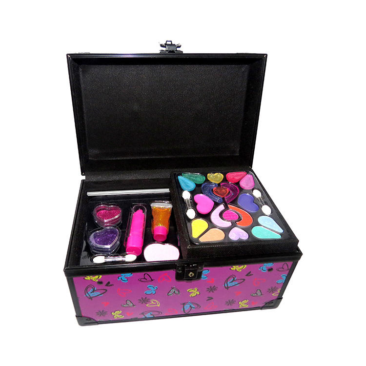 Girls Cosmetic Gift kits with lipstick Eyeshadow Palette And Nail Polished Custom Kids Private Label Makeup Set