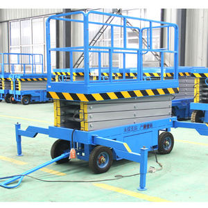 Multiple power option manlift hydraulic electric scissor lift aerial work platform
