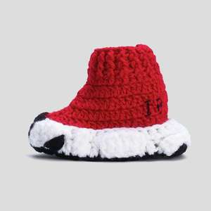 Handmade Red Baby Girls Booties Crochet Infant Sneakers Hand Knitting Toddler Shoes