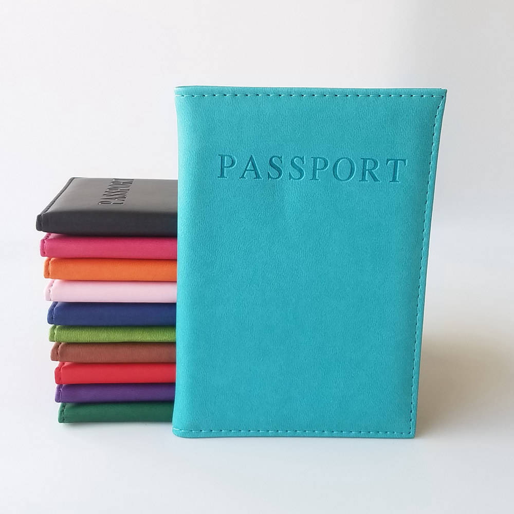 Wholesale Cheap Price PU Leather Passport Holder For Travel