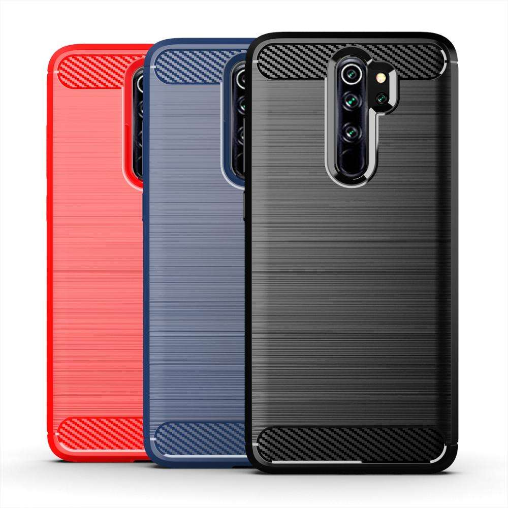 Carbon Fiber Shockproof Soft Tpu Back Cover Mobiele Telefoon Case Voor Xiaomi <span class=keywords><strong>Redmi</strong></span> <span class=keywords><strong>Note</strong></span> <span class=keywords><strong>8</strong></span> Pro