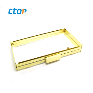 Handbag hardware high quality bag accessories custom metal popular handbag frame clutch box frame purse bag frame