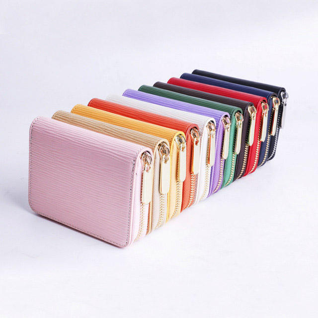 Fashion Ladies Travel Wallets Purse RFID Cheap Girls Wrist PU Slim Mini Small Leather RFID Women Wallet