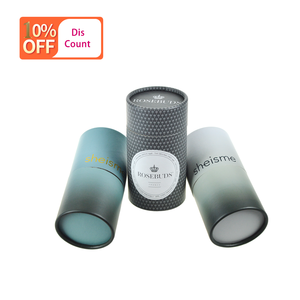 Packaging Paper Gift Carton Light Tube Small Hat Cardboard Kraft Led Rigid Black Perfume Template Cylinder Round Box