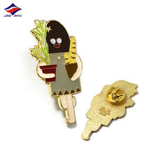 Longzhiyu 14Years Colors Gold Zinc Alloy Badge Custom Cute Man Enamel Lapel Pins Top Quality Metal Name Badge