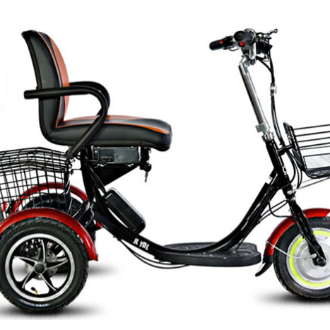 High Quality 250W Brushless Motor 16 Inch ELectric Tricycle für Adults