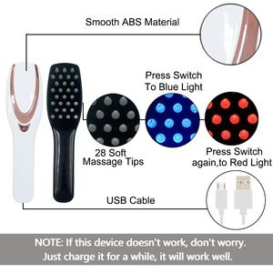 2020 New 3-IN-1 Phototherapy re-growth comb massager brush electric head hair care scalp massage comb