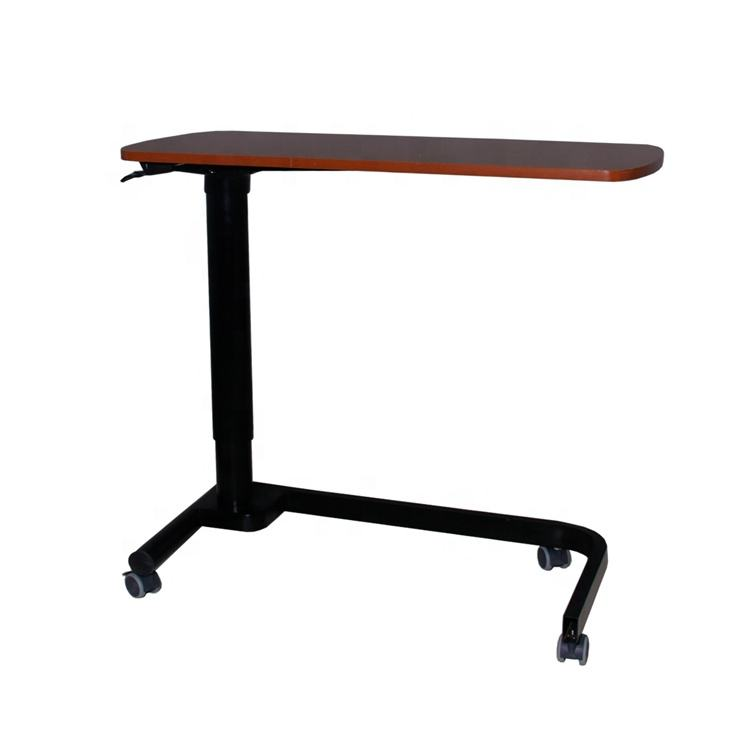 hospital equipment plastic material over the bed dining table with wheels