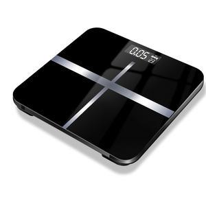 Household glass bathroom digital body weight scale