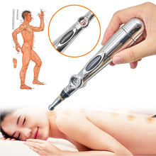 3 Heads Electronic Acupuncture Meridian Electric Laser Therapy Massage Energy Pen