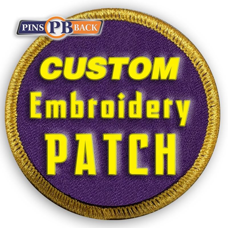 New design custom embroidered Woven patches for clothing