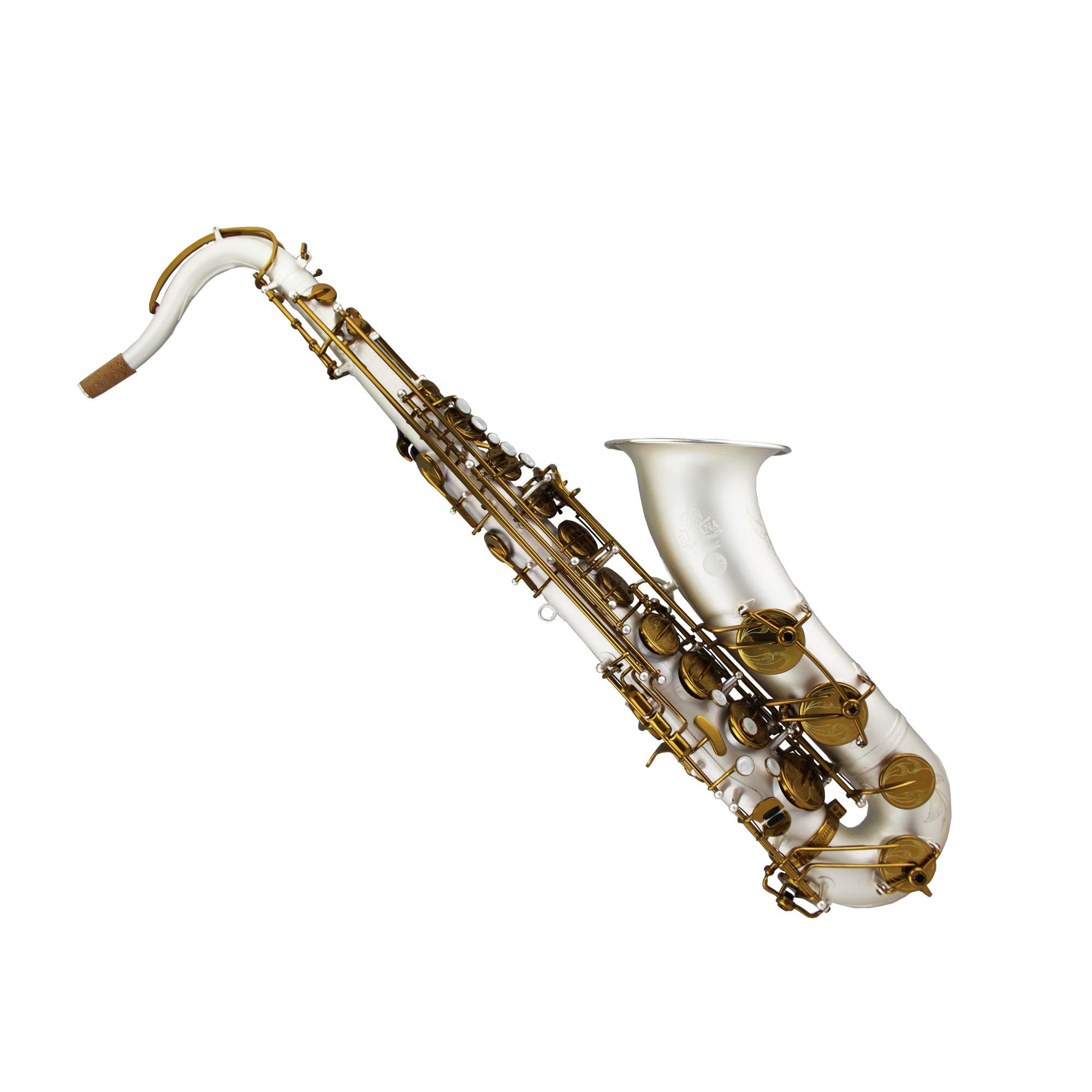 Tide Music pro use tenor saxophone satin silver plated MKVI type with contoured case
