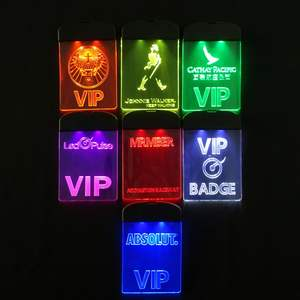 LED Flashing Lanyard VIP concert badge tag TPU panel display and laser engraved LOGO suitable for party and event
