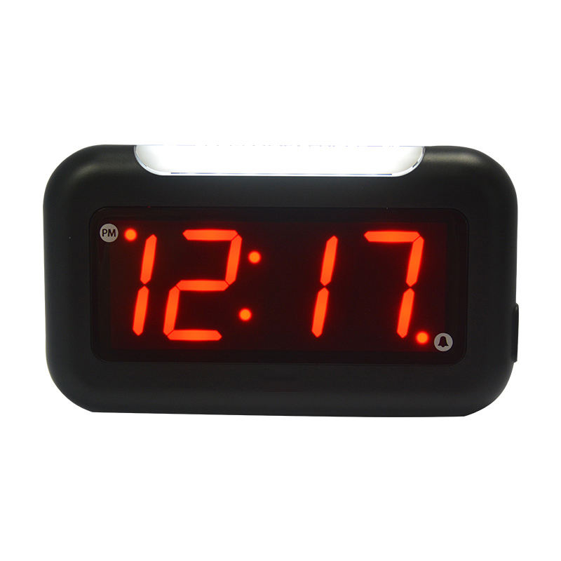 Wholesale LED Large Mirror Display Digital Desk Table Alarm Clock With Snooze and Nightlight