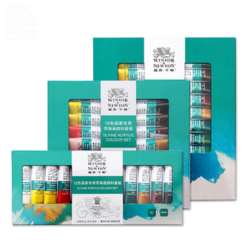 Winsor & Newton 12/18/24 colours 10ml wholesale artist professional aluminium tube acrylic paint set